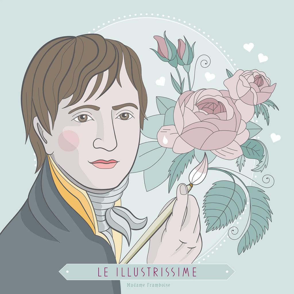 Redouté Illustrissima - Ritratto digitale di Madame Framboise